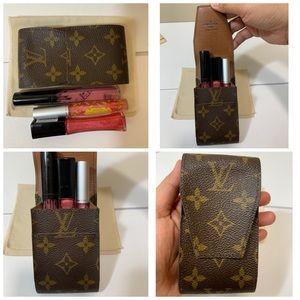Lipstick/Cigarette case with duster
